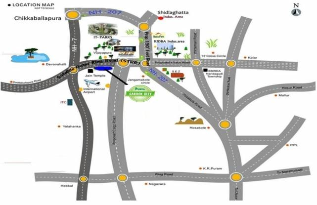 Purva Garden City Location Plan