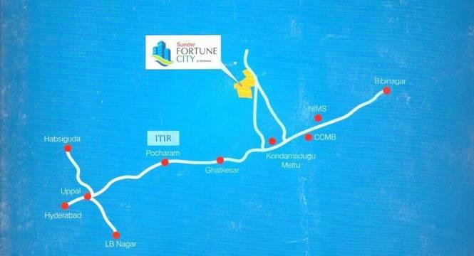 Sundar Fortune City Location Plan