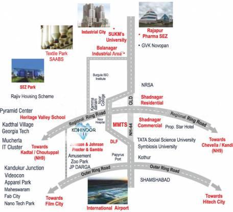 Building Kohinoor City Location Plan