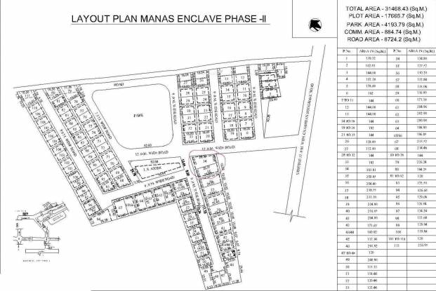 Manas Manas Enclave Phase 2 Layout Plan