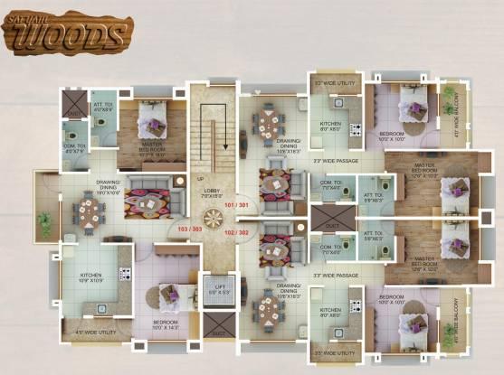 Satyam Woods Cluster Plan