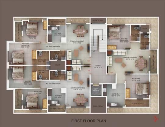 Satyam Majestic Cluster Plan