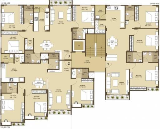 arham Single Tower Cluster Plan