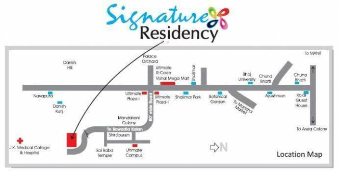 Aaradhya Signature Residency Location Plan