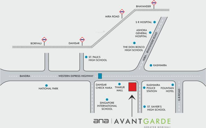 ANA Avant Garde Phase 1 Location Plan
