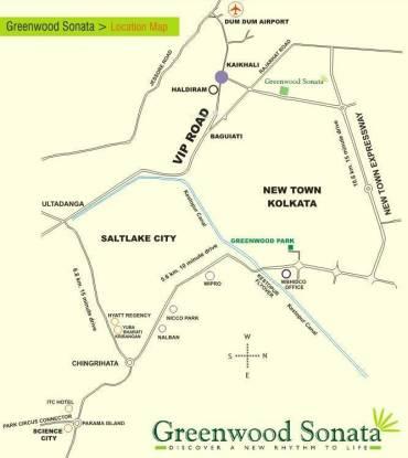 Shrachi Greenwood Sonata Location Plan