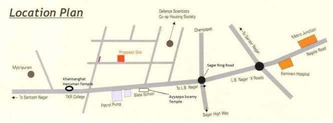 Rathi Sri Tirumala Crest Location Plan