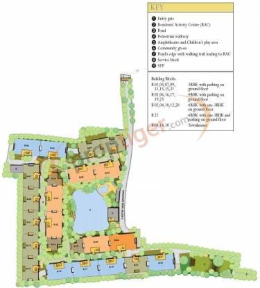 Ambuja Ujaas The Condoville Villas Layout Plan