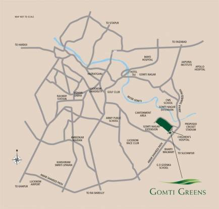 Emaar Gomti Greens Location Plan