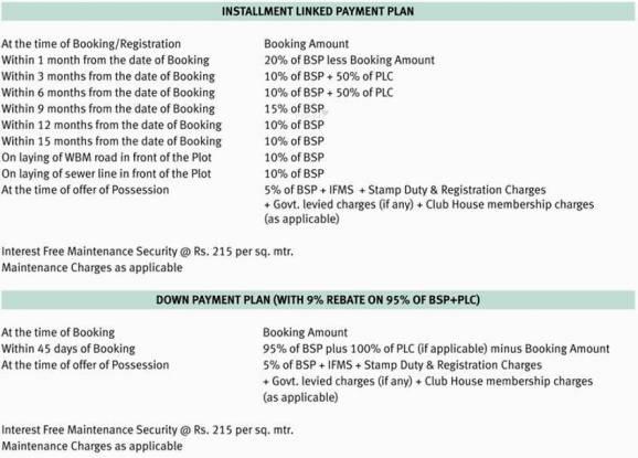 Emaar Gomti Greens Payment Plan