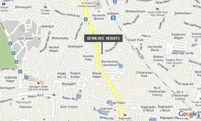 Devaloke Heights Location Plan