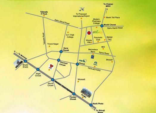 Sahyadri Shruberry Location Plan