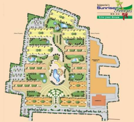 Jaipuria Sunrise Greens Layout Plan