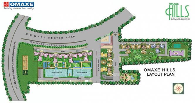 Omaxe Hills Layout Plan
