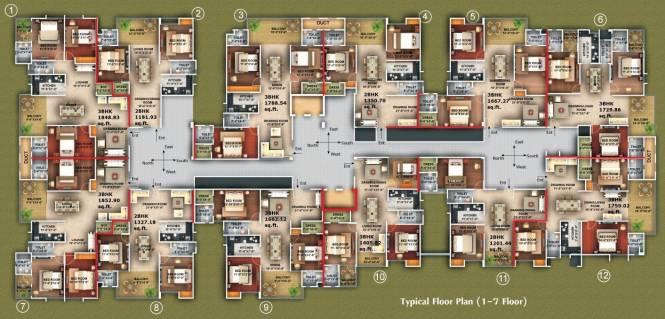 Amna Rolex Estate Cluster Plan