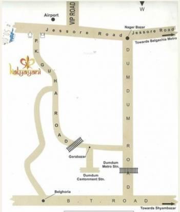 Aatreyee Katyayani Location Plan