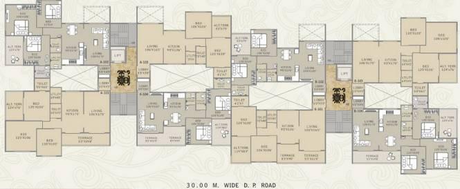 Ravi Anushree Apartments Cluster Plan