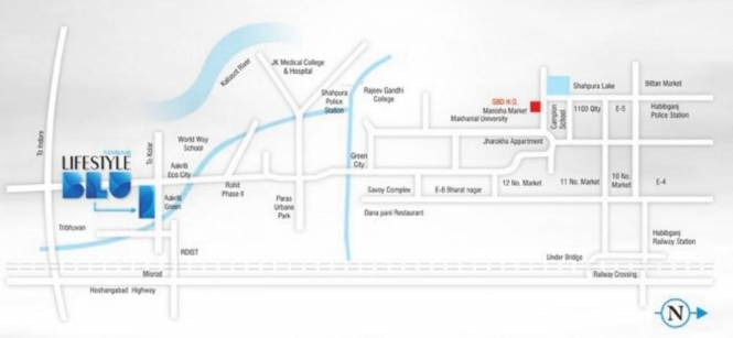Sanskaar Lifestyle Blu Location Plan