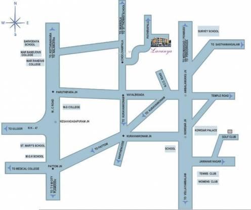 Creations Lavanya Apartments Location Plan