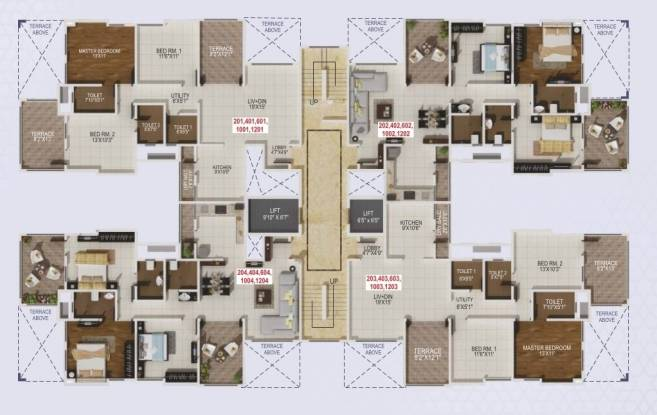 Kshitij Promoters And Developers Crystal Towers Cluster Plan