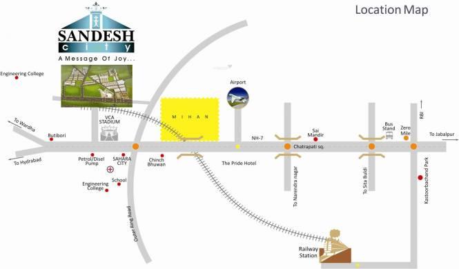 Sandesh City Villa Location Plan