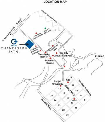 Omaxe Mulberry Villas Location Plan