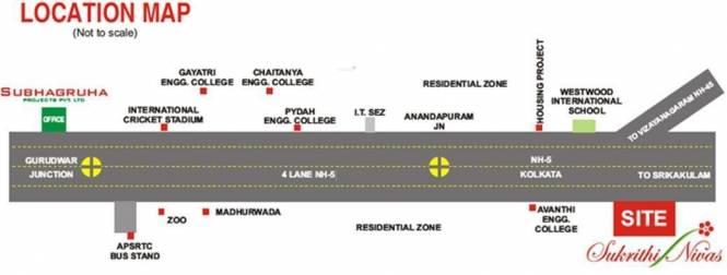 Subhagruha Sukrithi Nivas Phase I Location Plan