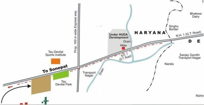 Parsvnath Royal Villas Location Plan