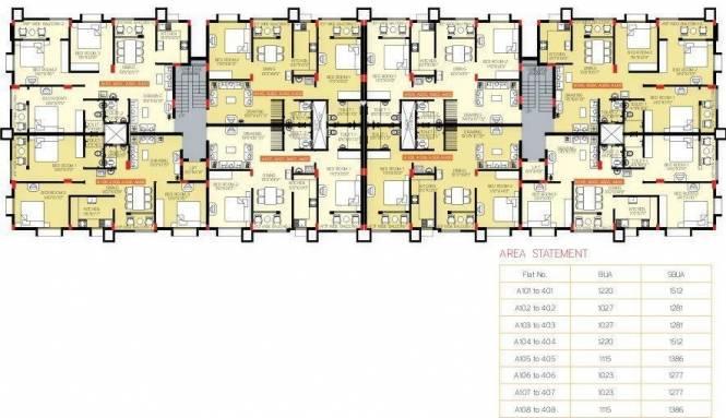 Panda Nageswar Residency Cluster Plan