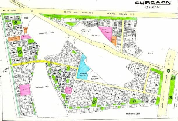 HUDA Plot Sec 17 Layout Plan