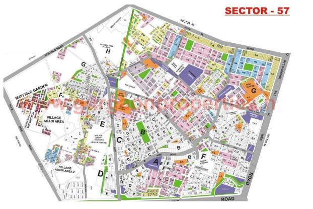 HUDA Plot Sector 57 Master Plan