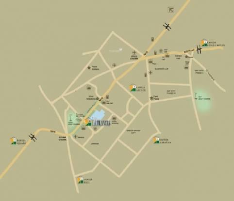 Raheja Atlantis Location Plan