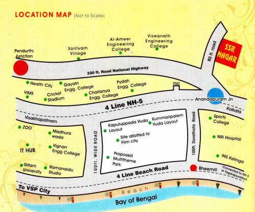 Shree Sai Rama Constructions SSR Nagar Location Plan