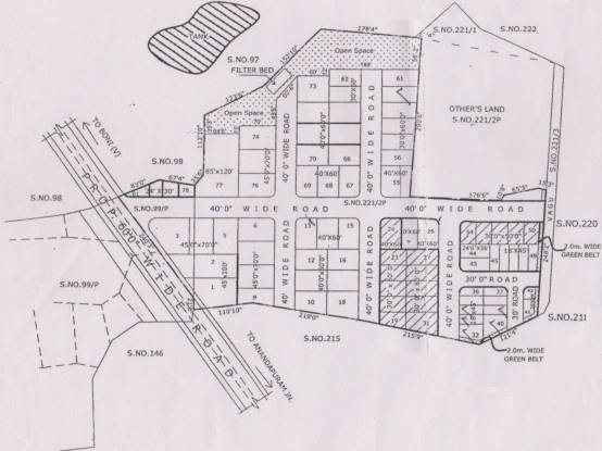 Shree Sai Rama Constructions SSR Nagar Site Plan
