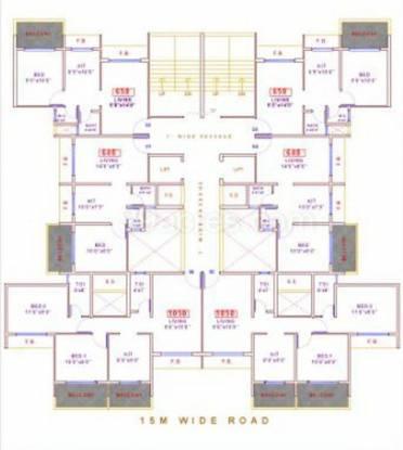 Anita Bhaveshwar Heights Cluster Plan