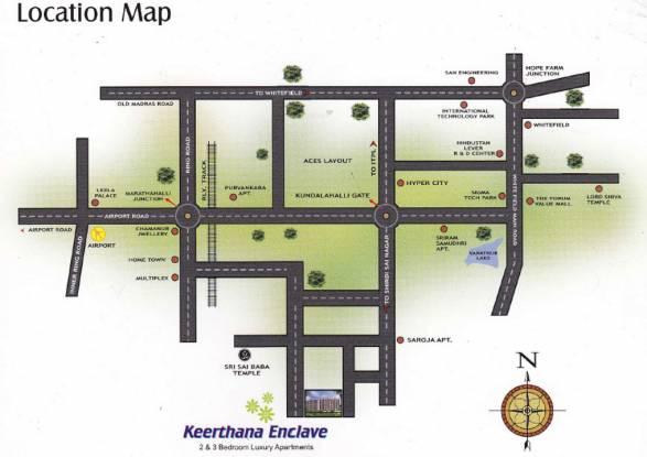 Sai Keerthana Enclave Location Plan