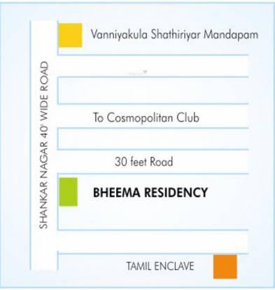 Kirthika Thamil Enclave Location Plan