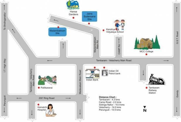 Jain Sudarsana Location Plan