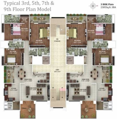 Aditya Dinkar Apartment Cluster Plan
