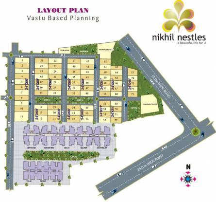 Nikhil Nestles Villas Layout Plan