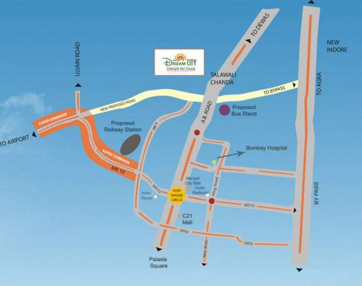 Dream City Location Plan