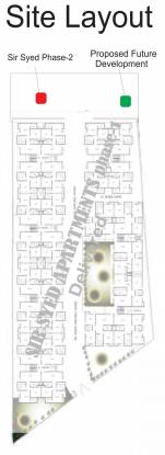 Earthcon Sir Syed Apartment Site Plan