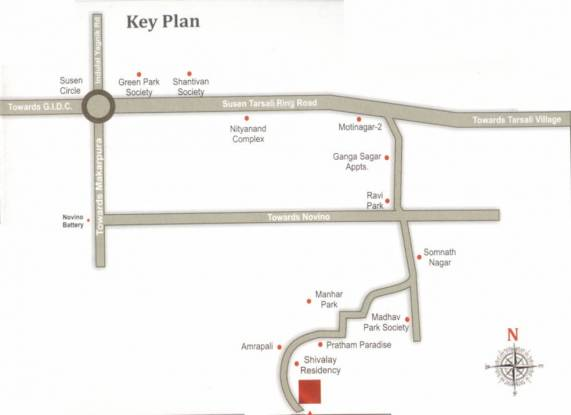 Shree Hari Residency Location Plan
