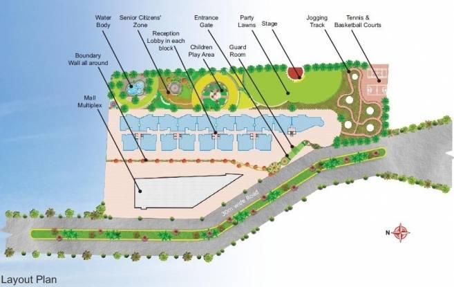 Lilasons Kanha Towers Layout Plan