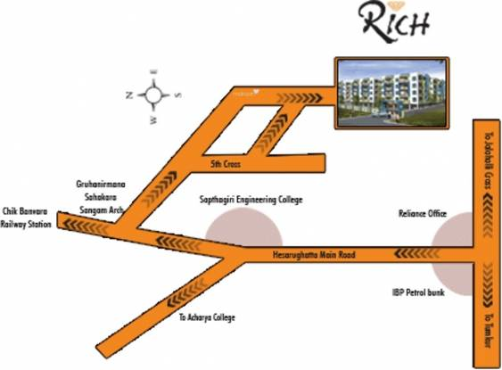 rich Images for Location Plan of Mahaveer Rich