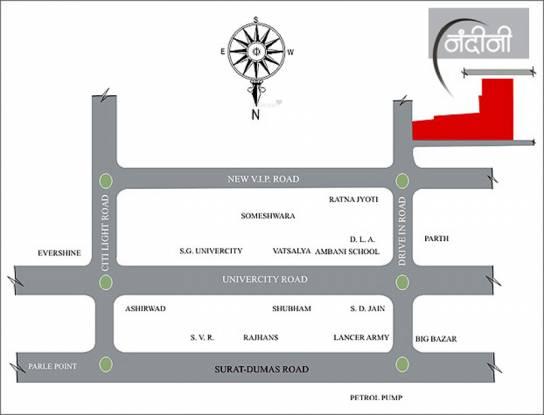 Happy Home Nandini Location Plan