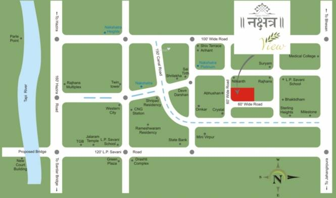 Happy Home Nakshatra View Location Plan