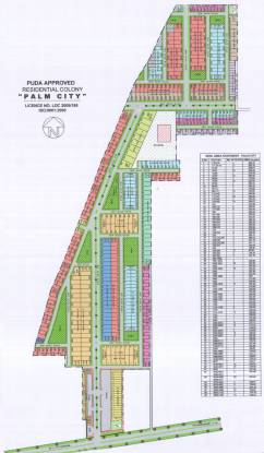 Amgeco Palm City Plots Layout Plan