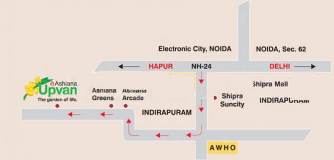 Ashiana Upvan Location Plan