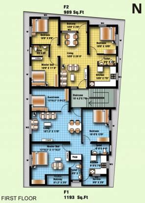 Anu Krish Flats Cluster Plan